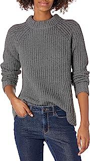 Goodthreads Suéter de Punto de algodón con Cuello de Bufanda Jersey para Mujer