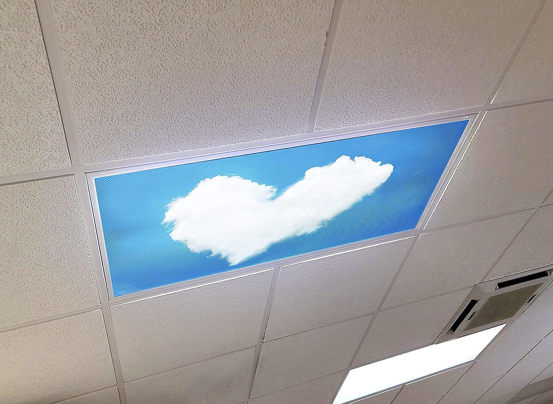 Heart Clouds - 2ft x 4ft Fluorescent 激安特価品 Cei マーケット Ceiling Drop Decorative