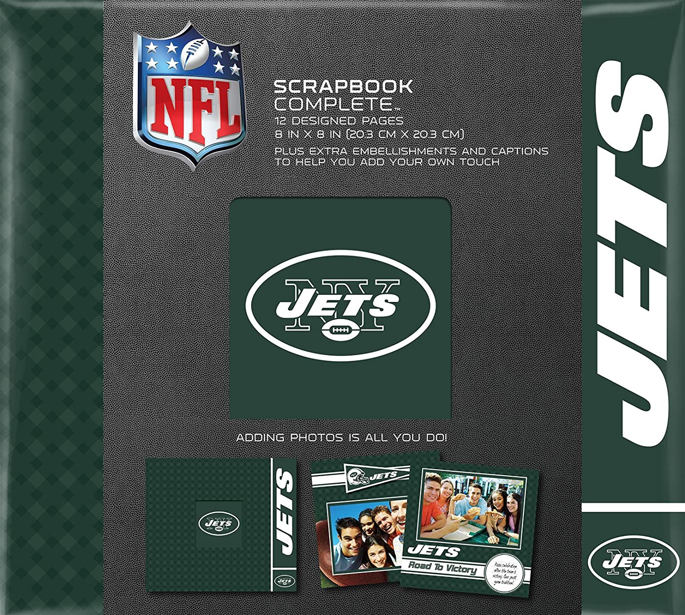 C.R. Gibson Scrapbook Complete Kit, Small, New York Jets (N878488M)