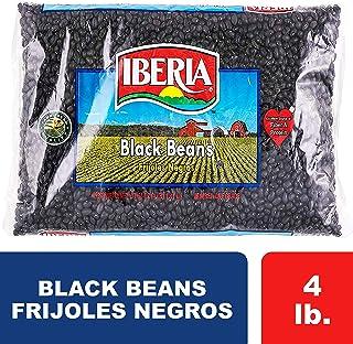 Iberia Black Beans, Dry Beans 4 lbs, Bulk Dry Black Beans Bag, Fiber & Protein..