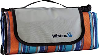 WintersAir Picnic Blanket Waterproof with Tote Bag and Ground Stakes, Machine Washable, Extra Large / 79 inch x 79 Stadium Blanket, 100% Waterproof, Portable, Foldable, Outdoor Gifts for Men, Women