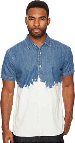 Dip-Dye Denim Short Sleeve Shirt