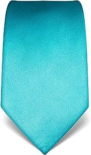 Vincenzo Boretti cravatta elegante classica da uomo, 8 cm x 15 cm, di pura seta di alta qualità, idrorepellente e antispor...