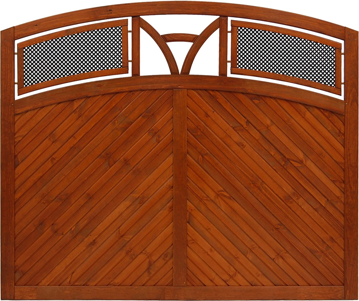 Andrewex wooden fence, 135 150 x 180 teak, privacy, fencing panel