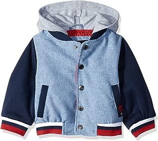 iXtreme Baby Boys Varsity Jacket with Fleece Hood
