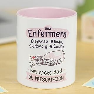La Mente es Maravillosa - Taza frase y dibujo divertido (Una enfermera dispensa afecto y