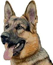 German Shepherd Dog Portrait Counted Cross Stitch Pattern