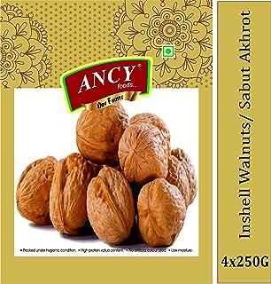 Ancy Best Inshell Fresh Paper Walnuts, Premium Quality Dry Fruits 1kg (4x250g)
