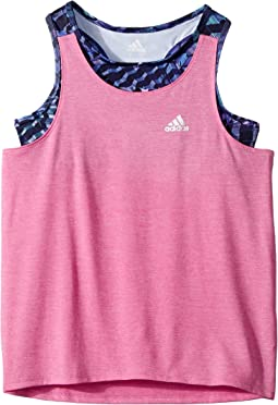 adidas Kids - Melange Twofer Tank Top (Big Kids)