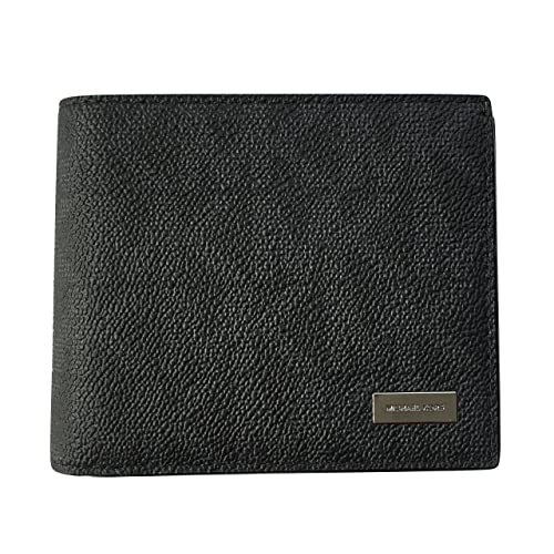 1789a863ebaa7 Michael Kors Jet Set Mens Billfold with Passcase Wallet (Black)