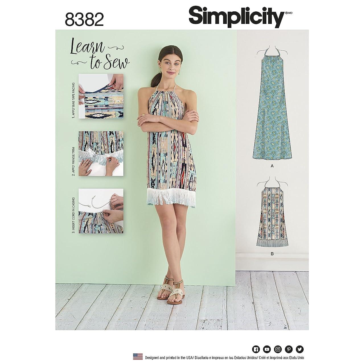 Simplicity Pattern 8382 Misses' Halter Dress in Two Lengths Size XXS - XXL