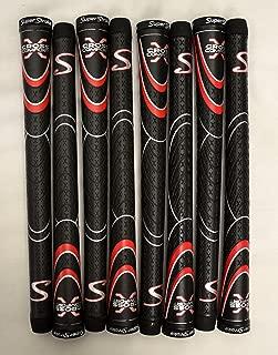 SuperStroke 8 Cross Comfort Midsize Golf Grips - Black/Red - 18846