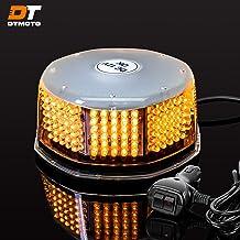 DT MOTO Amber LED Flashing Strobe Beacon Light - Waterproof Magnetic Roof Top Mount Emergency Warning Lights for Forklift ...