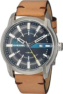 Diesel Armbar Brown Stainless Steel & Leather Watch DZ1847
