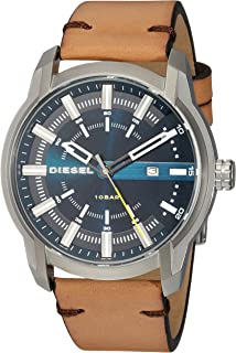 Diesel Armbar Brown Stainless Steel & Leather Watch DZ1847