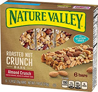 Nature Valley Granola Bars, Roasted Nut Crunch, Almond Crunch, 6 Bars - 1.2 oz (Pack of 6)