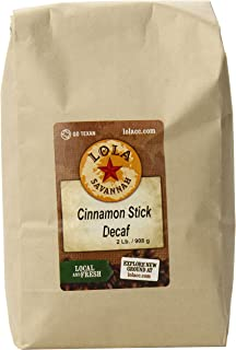 Lola Savannah Cinnamon Stick Ground Coffee - Cinnamon Spice Flavored Coffee | Delicious Aroma | Decaf | 2lb Bag