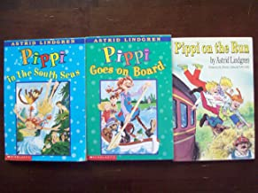 Pippi Longstocking; Set of 3 Chapter Books (Pippi on the Run~Pippi Goes on Board~Pippi in the South Seas)