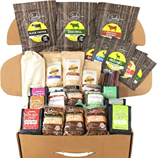 The Beef Case Gift Box - Includes 54 pieces of Jerky, Meat Snacks, Deep Fried Peanuts, and more! - THE Best Gift for Men