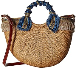 Sam Edelman - Lianna Metallic Fringed Straw Tote