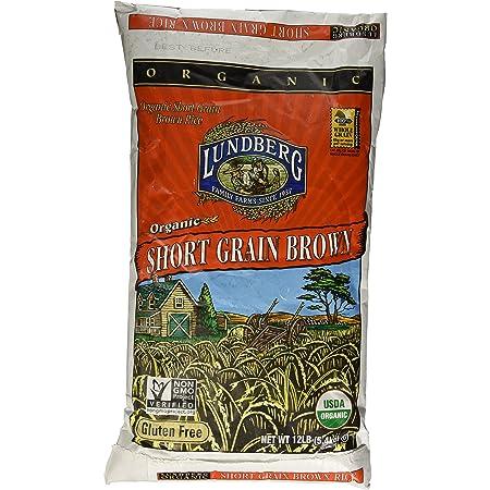 Lundberg Farms USDA ORGANIC Short Brown Rice Gluten Free 12 LB
