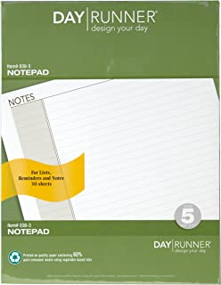 Day Runner Undated Lined Notepad Refill, 8.5 x 11 Inches (038-3)