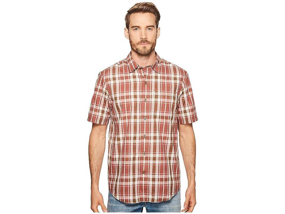 Timberland PRO Plotline Short Sleeve Plaid Work Shirt (Red Oxide Plaid) Men
