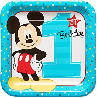 Mickey Fun To Be One 23cm Square Plates