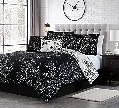 Spirit Linen Warm and Cozy Comforter Set Platinum Bedding Collection Baby Soft Texture Plush Bed Blanket (Black, Queen)