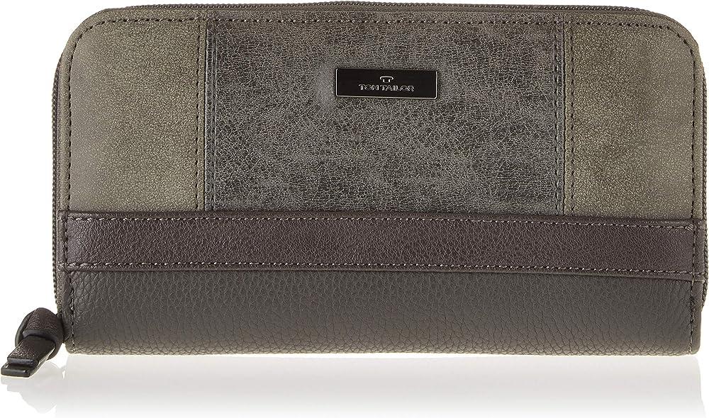 Tom tailor - juna portafoglio donna porta carte di credito in pelle sintetica 244211