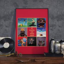 Kanye West Poster 'My Beautiful Dark Twisted Fantasy' (A2 Size)