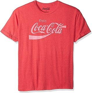 Coca-Cola Mens Enjoy Classic Logo Vintage Look T-Shirt