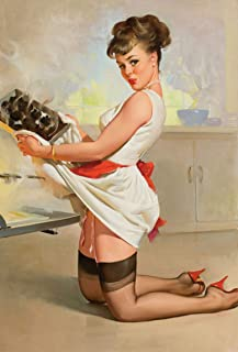 """Vintage Gil Elvgren Pinup Girl Fabric Cloth Rolled Wall Poster Print -- Size: (36"""" x 24"""" / 20"""" x 13"""")"""