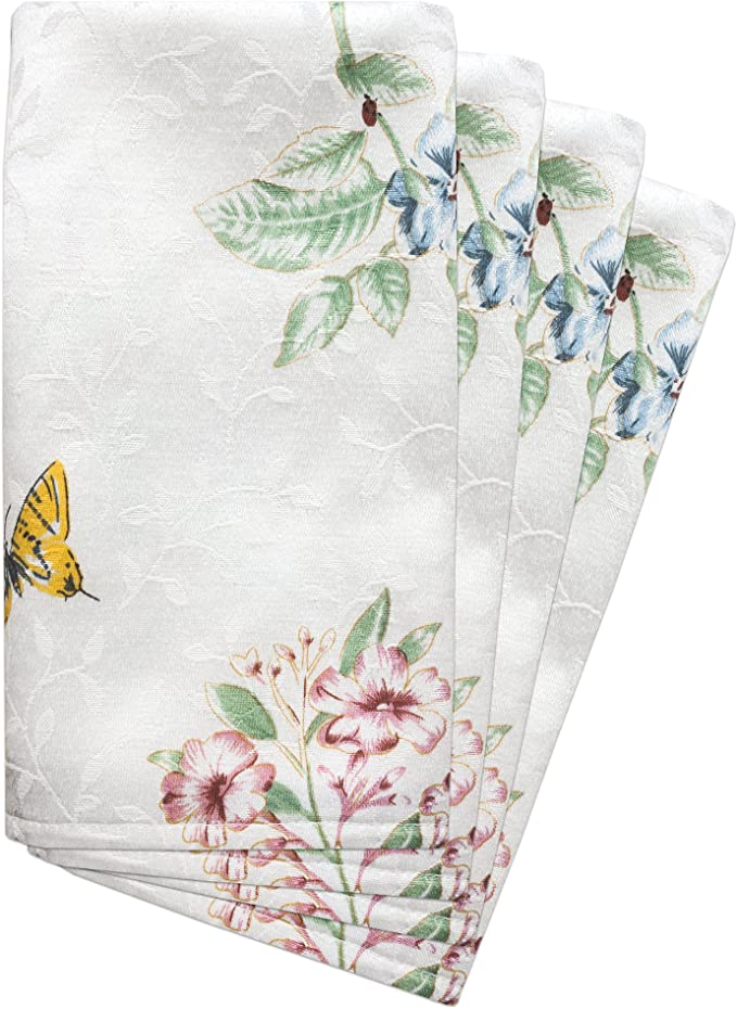 Nature Dinner Napkins - Folk Butterfly Brown /& Turquoise by bohemiangypsyjane Floral  Butterfly Cloth Napkins by Spoonflower Set of 2