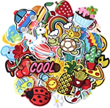 J.CARP 60pcs Random Assorted Iron on Patches, Cute Sewing Applique for Jackets, Hats, Backpacks, Jeans, DIY Accessories, A