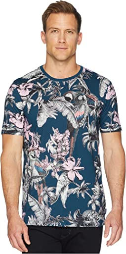 Ted Baker Plutto Tropical Printed T-Shirt