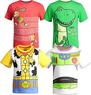 Pixar Toy Story Boys 4 Pack T-Shirts Woody Buzz Lightyear Rex Slinky Dog