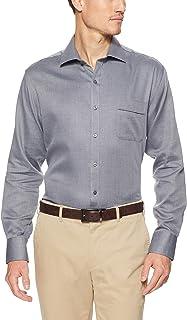 Van Heusen Men's Classic-Relaxed Fit Herringbone Business Shirt