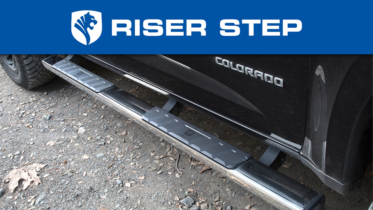 Tyger Auto TG-RS5F50098 Riser 5Inch Black Side Step Rails Nerf Bars Running Boards Compatible with 2015-2019 Ford F150//2017-2019 F250//F350 Duty Super Cab