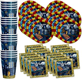 Wizard Castle Birthday Party Supplies Set Plates Napkins Cups Tableware Kit for 16 by Birthday Galore