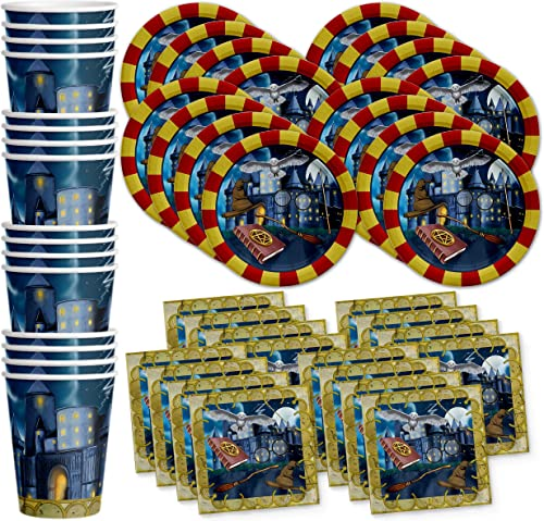 ventas en línea de venta Wizard Castle Birthday Party Supplies Set Plates Napkins Cups Cups Cups Tableware Kit for 16 by Birthday Galore  tienda de venta