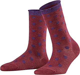 FALKE Damen Socken Soft Dot - Baumwolle-Wolle-Mischung, 1 Paar, versch. Farben, Größe 35-42 - Dot-Musterung, glitzernden Lurex-Details, gewelltes Abschlussbündchen
