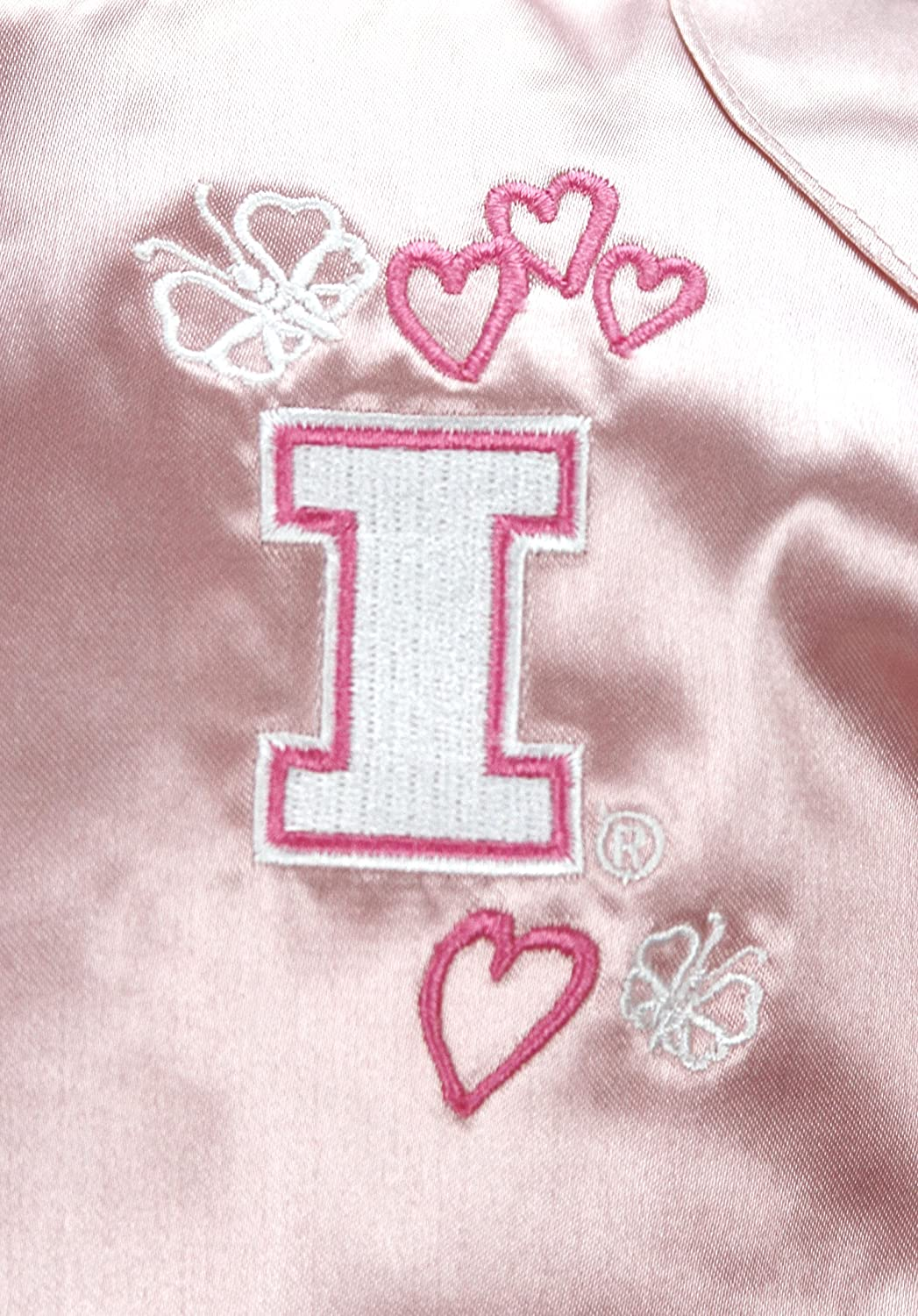 adidas NCAA Girls Infants (0M-24M) and Toddlers (2T-4T) Pink Satin Cheer Jacket, Team Options : Clothing