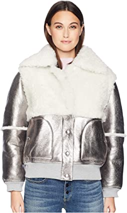 Metallic Shearling Jacket