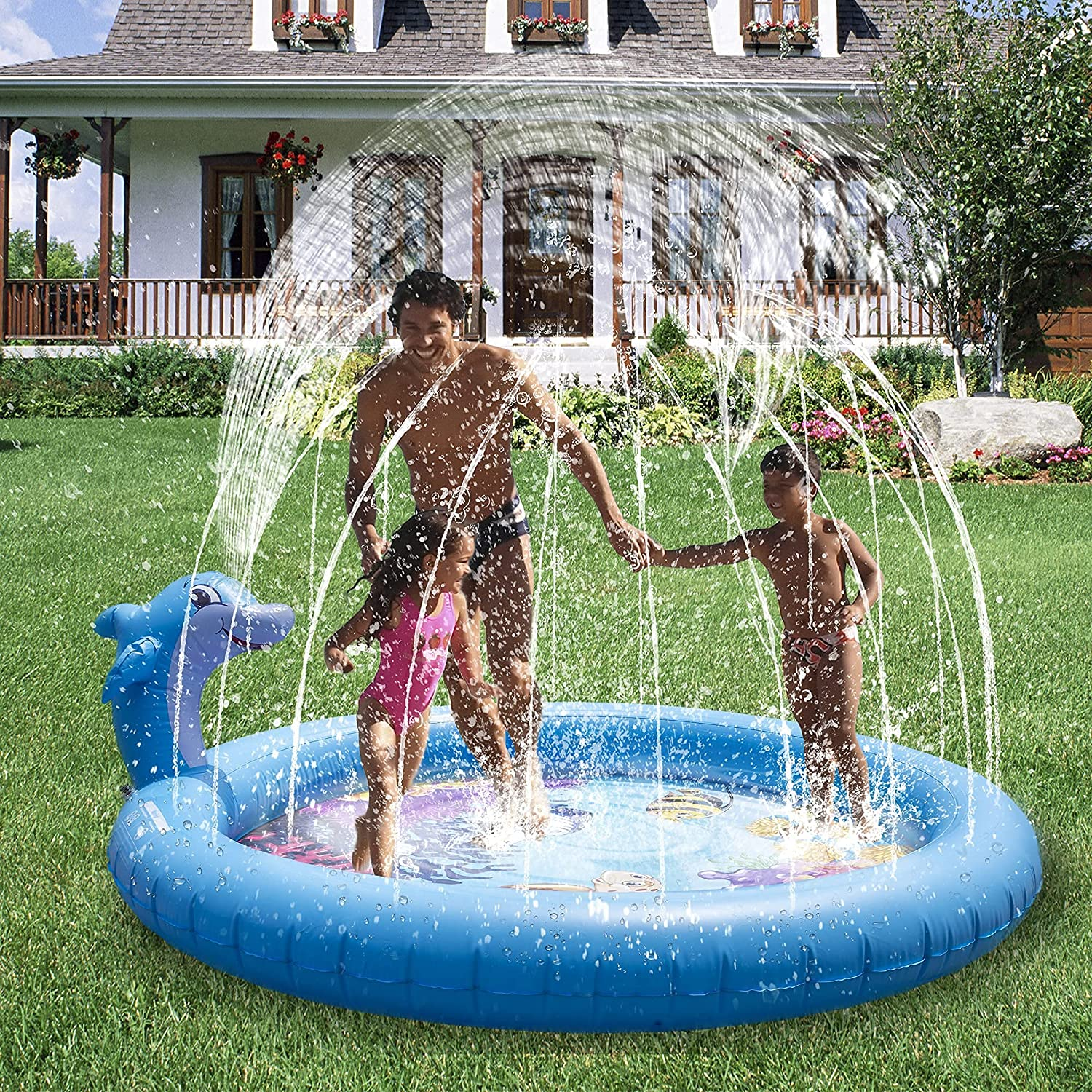 store Splash Pad for Kids Water Inf Store Sprinkler Toys Toddlers
