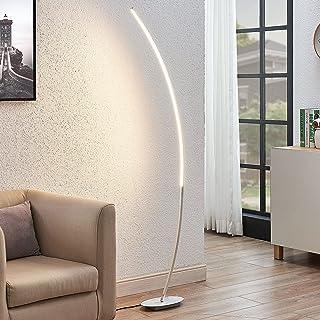 LED Lampadaire 'Nalevi' (Moderne) en Gris en Métal e. a. pour Salon & Salle à manger (1 lampe,à A+) de Lindby | Lampadaire...