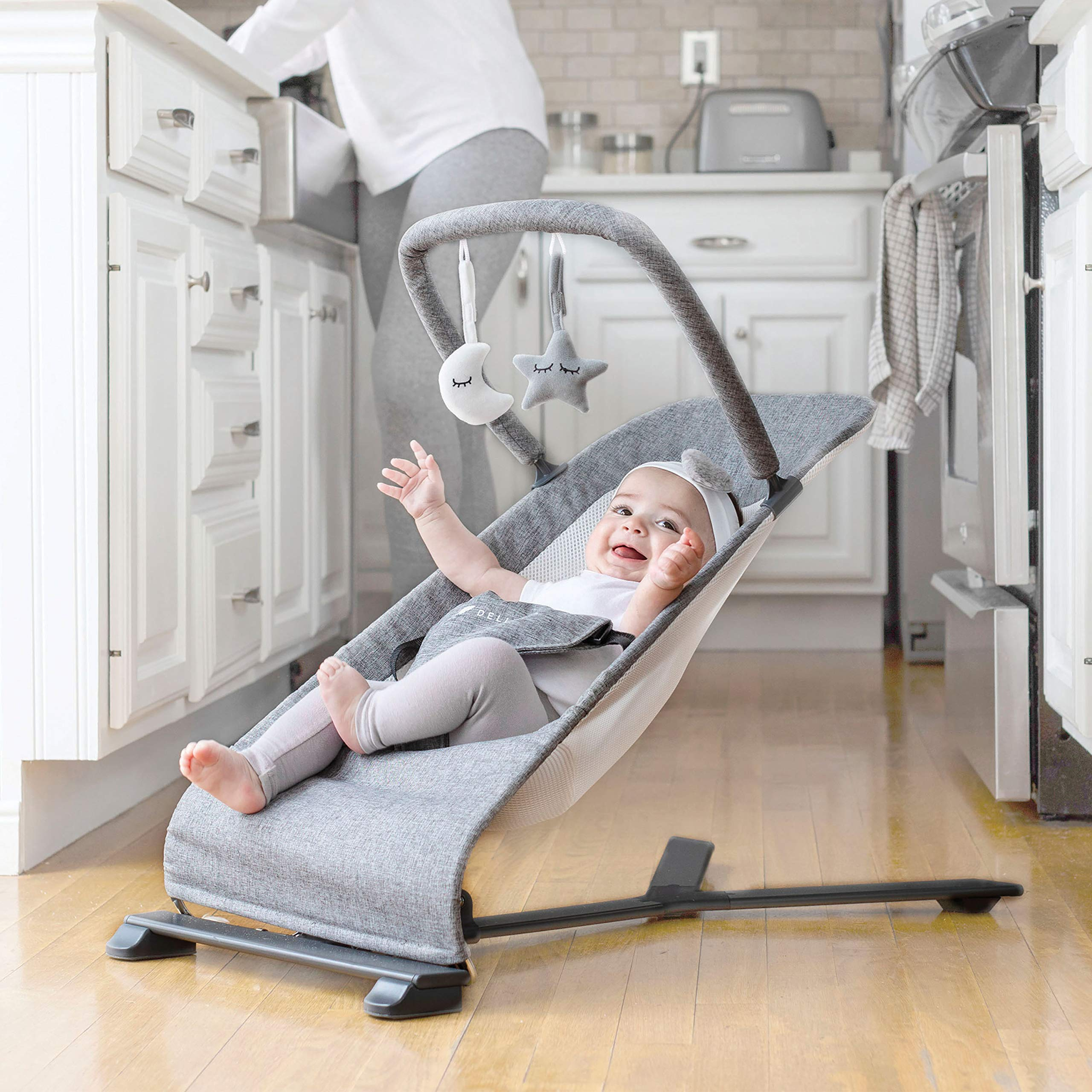 Baby Delight Portable Bouncer Charcoal