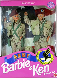 Star 'N Stripes ARMY Barbie & Ken Deluxe Set