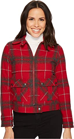 Pendleton - Crop Zip Wool Plaid Jacket