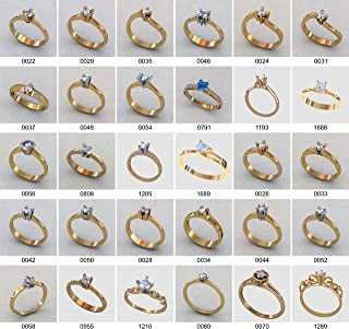 hvedch Set of 30 Ring Wax Patterns for Lost Wax Casting Jewelry/Main Stone 4 mm